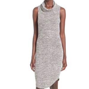 Leith Cowl Neck Sleeveless Midi Dress Sz Medium